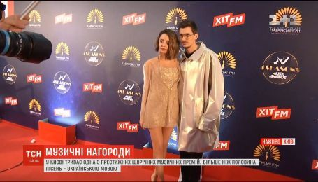 В Киеве проходит церемония награждения премии М1 Music Awards 2018