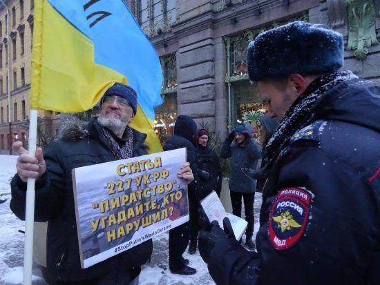 У Петербурзі і Волгограді відбулися пікети проти агресії Росії у Керченській протоці