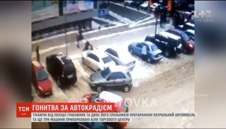 В Харькове грабители, которые бежали от полиции, протаранили патрульный автомобиль