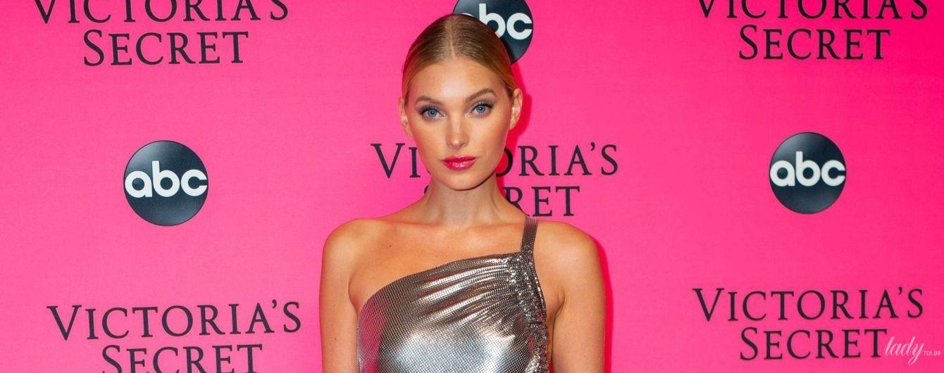 У блискучій сукні та без ліфчика: Ельза Госк на вечірці Victoria's Secret