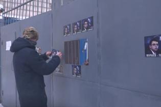 """Националисты пытались обтянуть колючей проволокой телеканал Мураева """"Наш"""", полиция задержала 5 человек"""