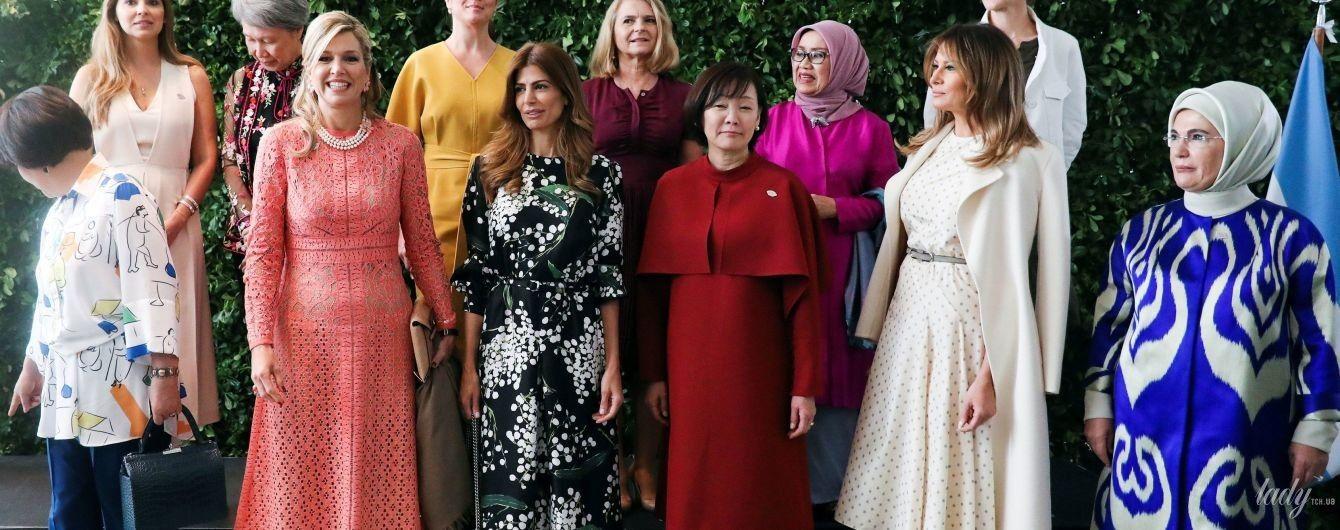 В ажурном платье и с жемчужным колье: королева Максима на саммите G20 в Аргентине