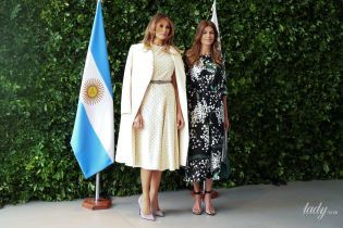 Элегантный и кокетливый: два эффектных образа Мелании Трамп в Аргентине