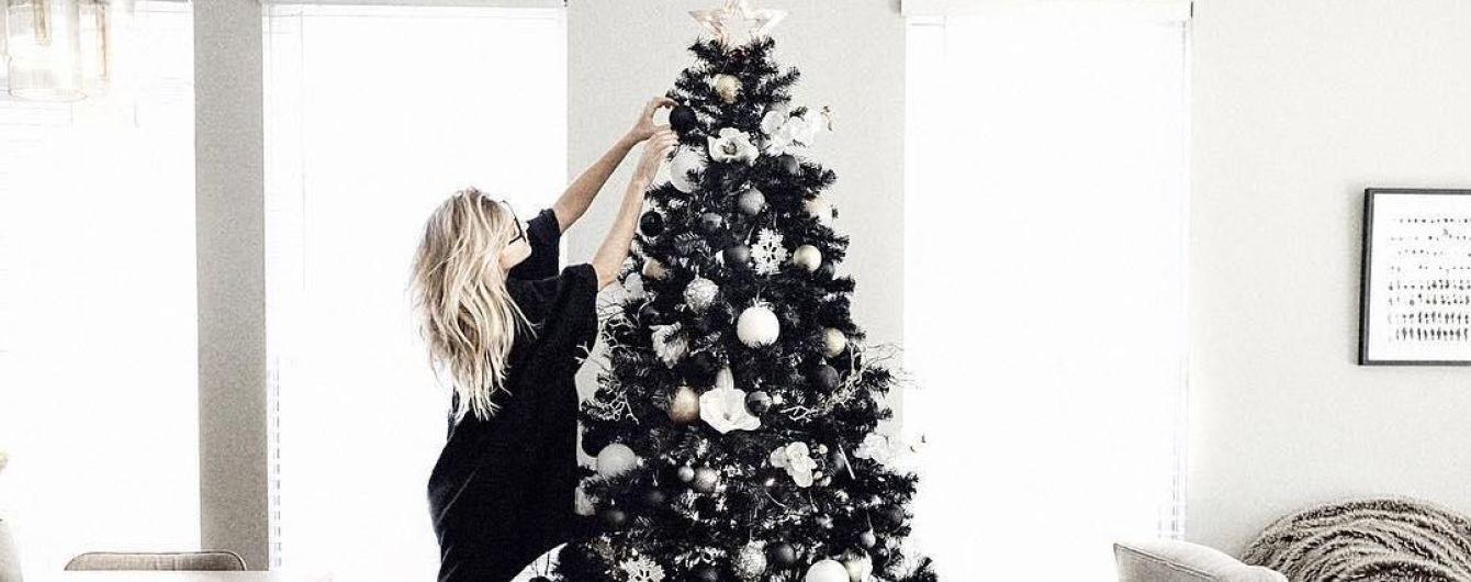 Мистические черные и безопасные для домашних любимцев елки. Тренды 2018-го