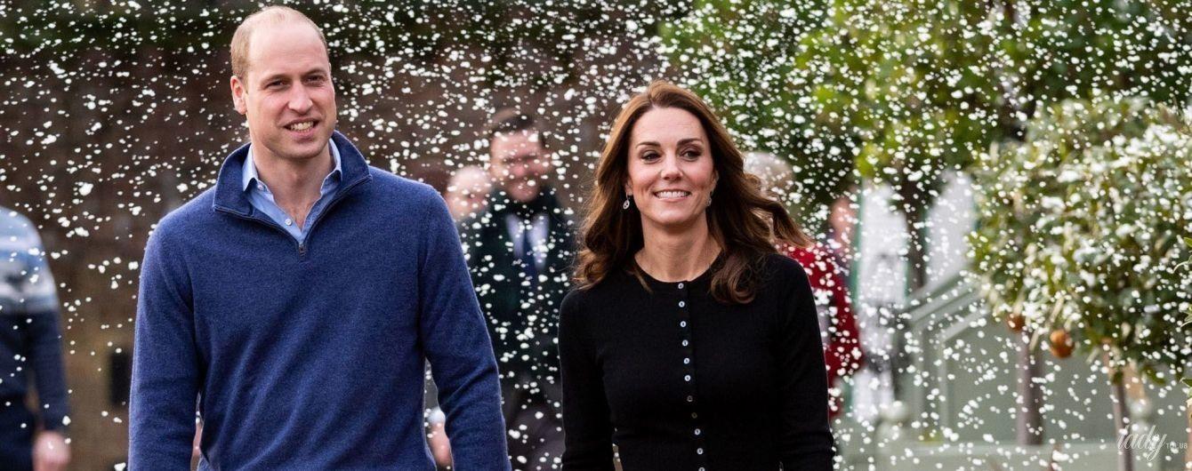 Лепили снежки и гуляли под снегом: как герцогиня Кембриджская и принц Уильям повеселились на вечеринке
