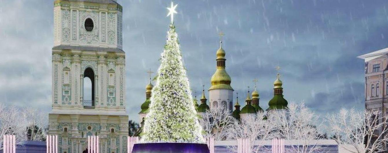 """Новогоднюю елку в Киеве """"украсят"""" телеэкранами"""