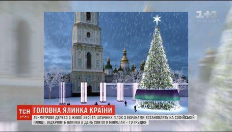 Головну ялинку країни відкриють 19 грудня