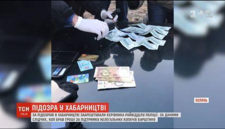 На Волыни взяли под стражу руководителя райотдела полиции по подозрению во взяточничестве
