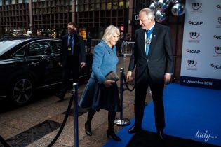 Сияет после банкета: герцогиня Корнуольская Камилла приехала на благотворительный прием