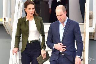 Вперше в широких штанях: герцогиня Кембриджська в несподіваному образі прилетіла на Кіпр