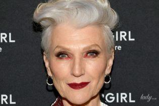 У блискучому жакеті і з насиченим макіяжем: 70-річна Мей Маск продемонструвала яскравий образ