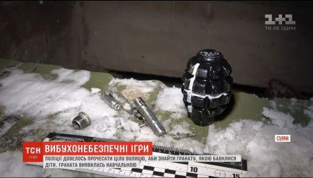 """У Сумах поліція """"прочесала"""" цілу вулицю через предмет, схожий на гранату"""