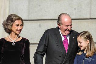 В бархатном платье и с жемчугом на шее: 80-летняя королева София впечатлила новым образом