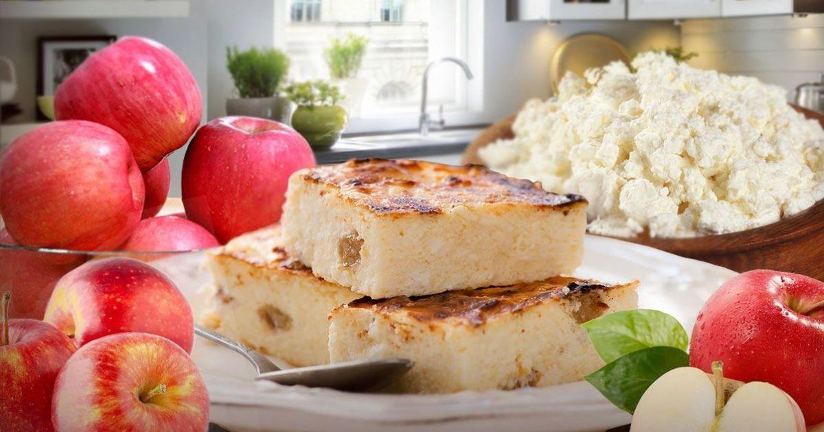 Простий яблучний сирник