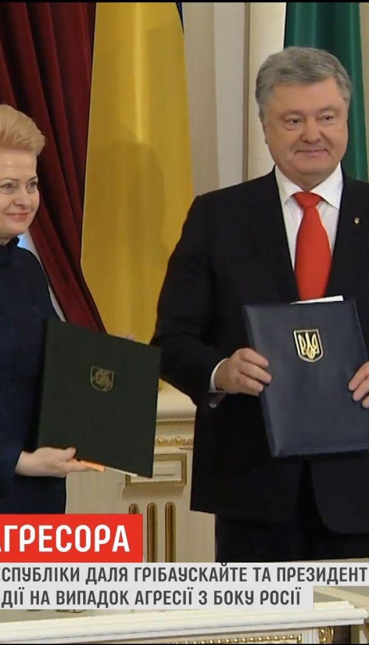 Порошенко и Грибаускайте договорились о совместных действиях в случае агрессии со стороны России