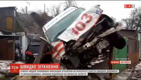 Моторошна ДТП: у Житомирі зіткнулися швидка та позашляховик