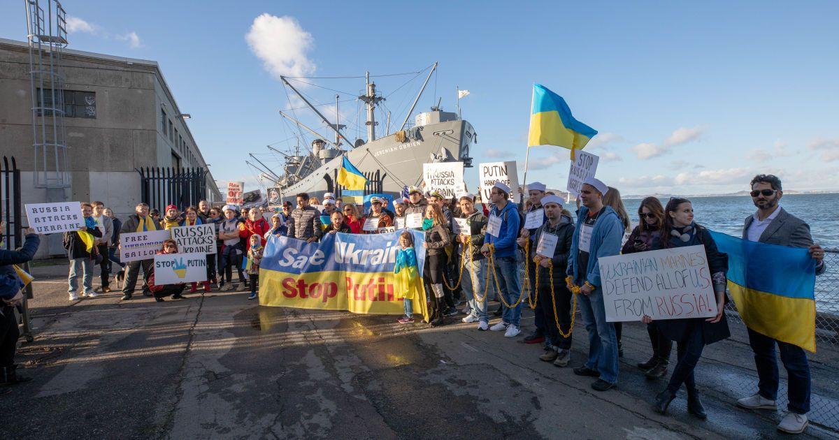 В Сан-Франциско призвали освободить захваченных украинских моряков @ Фото Александры Устиновой