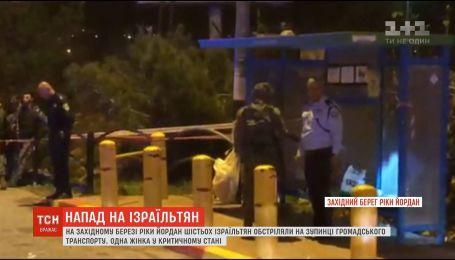 Шесть человек пострадали во время обстрела автобусной остановки на Западном берегу реки Иордан