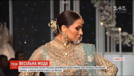 В Пакистане состоялся показ свадебных платьев от местных дизайнеров