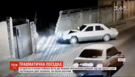 За одну ночь в разных районах Одессы две машины протаранили заборы