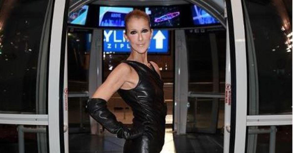 50-летняя Селин Дион в кожаном мини-платье напугала фанатов своей худобой