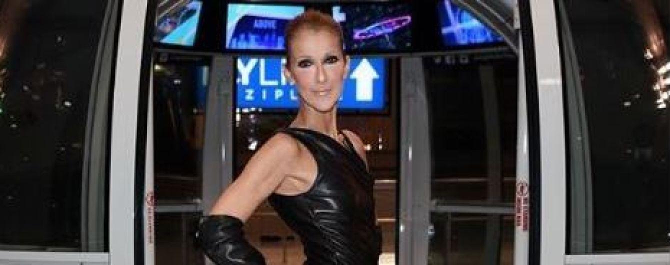 50-річна Селін Діон у шкіряній міні-сукні налякала фанів своєю худорбою