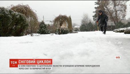 Cніговий циклон: синоптики оголосили штормове попередження у семи областях