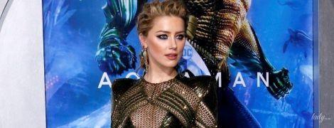 Без нижньої білизни: Ембер Герд у відвертій сукні прийшла на прем'єру фільму