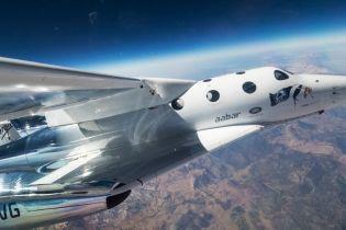 Virgin Galactic запустила туристичний модуль у пробний політ на 82 км над Землею