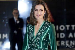 В гарній сукні з V-подібним декольте: королева Летиція відвідала світський прийом