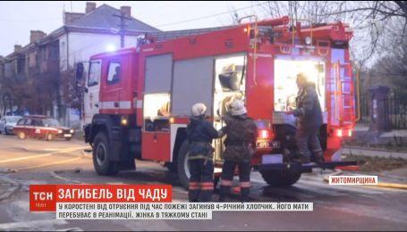 В Житомирской области во время пожара погиб 4-летний мальчик