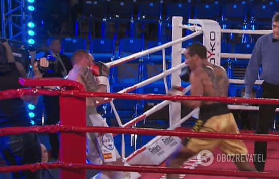 Український боксер технічним нокаутом переміг іспанця та здобув шосту перемогу в шести боях
