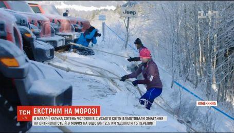 В Германии прошли соревнования на выносливость на морозе