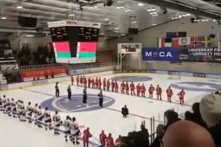 На хокейному матчі в Норвегії увімкнули гімном Білорусі пісню з радянського мультфільму