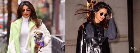 Черное или белое: два стильных образа Приянки Чопры в Нью-Йорке