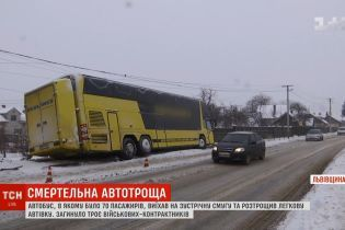 Моторошна ДТП із автобусом на Львівщині потрапила на запис відеореєстратора