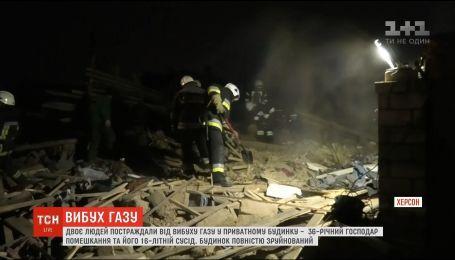 В Херсоне в частном доме произошел взрыв газа: два человека пострадали