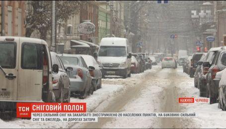 Украина в снежном плену: как в Черновцах борются с непогодой