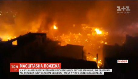 Через вибух скороварки у Бразилії згоріло 600 будинків