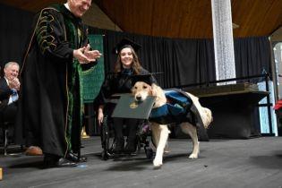 Собака-поводир отримав диплом разом з хазяйкою