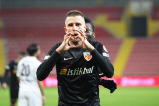 Экс-динамовец Кравец отметился дублем в Кубке Турции
