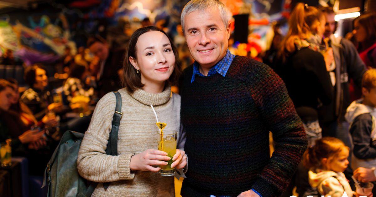 """Костянтин Грубич з дочкою @ Кінотеатр """"Оскар"""""""