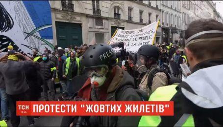 """Во время протестов """"желтых жилетов"""" во Франции задержаны 65 человек"""