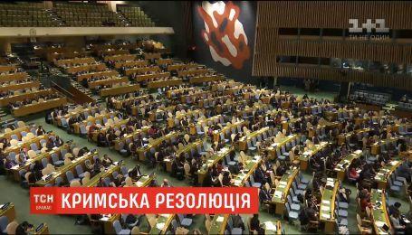 Генасамблея ООН ухвалила резолюцію щодо порушення прав людини в Криму