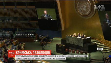 У новій резолюції Генасамблеї ООН щодо Криму поіменно згадано Сенцова, Балуха та Куку