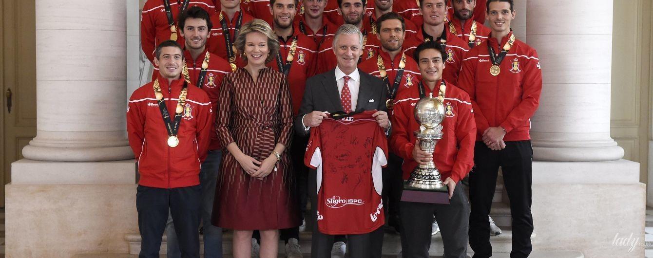 """Матильда и """"Красные львы"""": бельгийская королева поприветствовала хоккейную команду"""