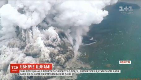 Внаслідок цунамі в Індонезії загинуло 373 людини