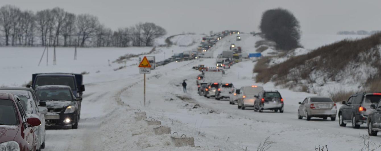 Въезд на Полтавщину запрещают из-за снежного коллапса