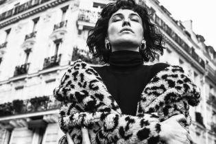 Ніжна Даша Астаф'єва у леопардовій шубі прогулялася Парижем