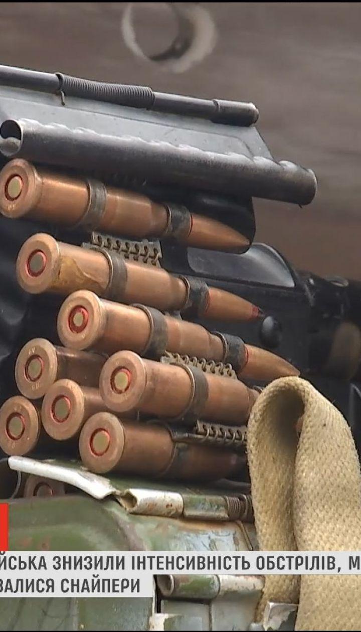 На передовой боевики снизили интенсивность обстрелов